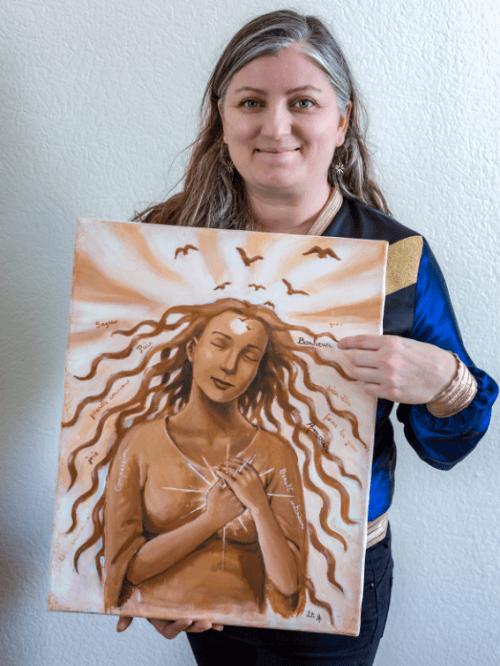 Camille Griselin présentant les valeurs du Groupe SAJECE