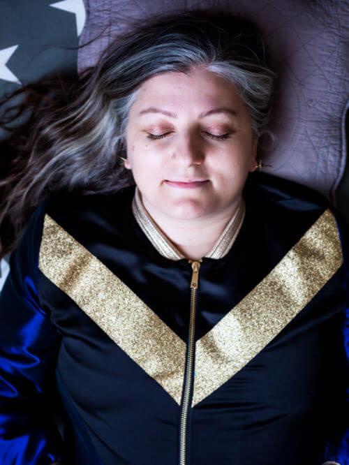 Camille Griselin méditant