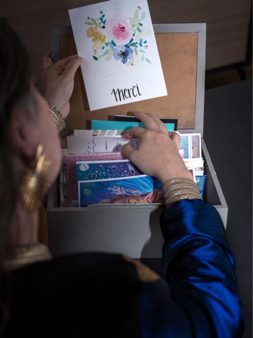 Camille Griselin en atelier démarche symbolique SAJECE